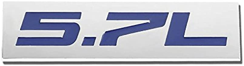 UrMarketOutlet 5.7L Blue/Chrome Aluminum Alloy Auto Trunk Door Fender Bumper Badge Decal Emblem Adhesive Tape Sticker