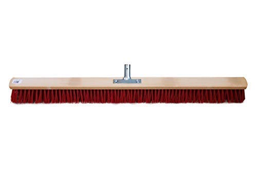 Balai pour Extérieur Elaston Rouge avec Porte-Manche - 80 cm
