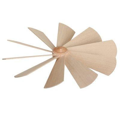 Rudolphs Schatkist, vervangend onderdeel vleugelwiel, diameter ca. 24 cm NIEUW reserveonderdelen vleugel naaf piramide