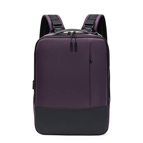 Men's Backpack Fashion Business Computer Bag Waterproof Large Capacity Backpack 34 * 12 * 42cm Purple