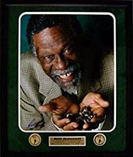 Signed Bill Russell Picture - Framed 11 Rings 16x20 w Medallion LTD ED - Autographed NBA Photos
