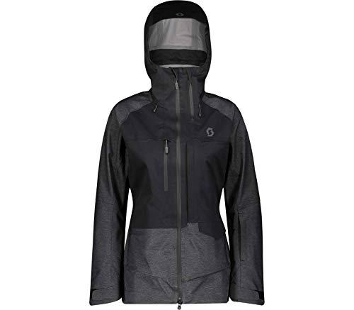 Scott Vertic 3L Jacket Colorblock-Grau-Schwarz, Damen Regenjacke, Größe - Farbe Black - Dark Grey Melange