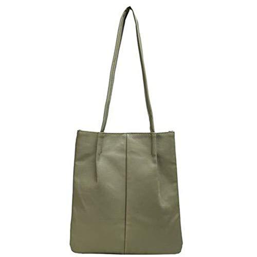 CVBN Bolsos Tipo Cubo de Cuero de PU Bolso de Hombro para Mujer Bolsos Cruzados Simples Dama, Verde
