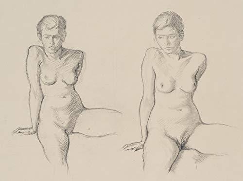 H. W. Fichter Kunsthandel: Carl Walther (1880-1956), Studienblatt, Weiblicher Akt, Bleistiftzeichnung