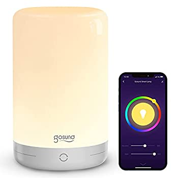 Smart Table Lamp Dimmable Touch Bedside Lamps Works with Alexa Google Home for Bedroom Living Room App Control Color Changing LED Nightstand Tap Lamp RGB Warm White Schedule and Timer
