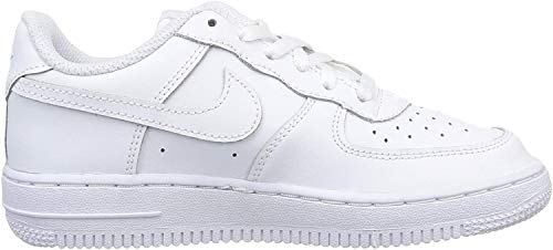 NIKE AIR FORCE 1 (PS) WHT/WHT 29 5 Blanco