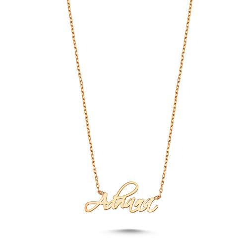 Mattias Jewellery Collar Mujer, Collar Plata Mujer, Collar Con Nombre, Collar Personalizado, Collar Nombre