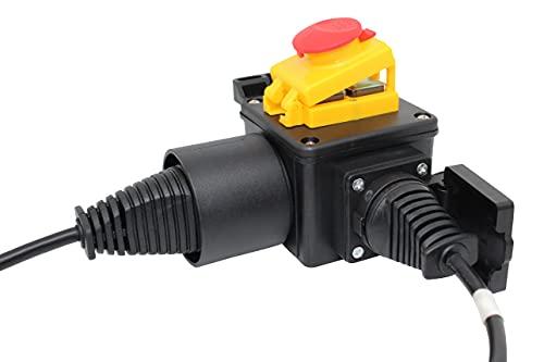 DZ08-2 - Enchufe con interruptor de batería (220 V, con tapa de emergencia y funda de silicona transparente)