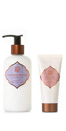 AKALIKO Lavender Cherish Body Lotion and Rosy Rose Hand Cream - Set A.