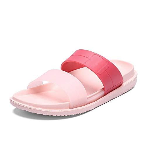 Sandalias planas de las señoras de las mujeres inferiores sandalias y deslizadores de los zapatos la palabra del verano playa de los deslizadores de la manera usan agujero zapatos dentro y fuera del b