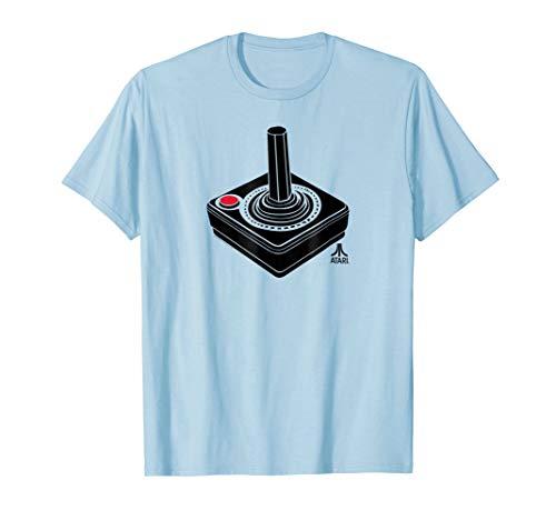 Atari Joystick and Small Logo Baby Blue Tee, Men or Women S to 3XL