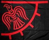 Raven Wikinger schwarz / rot Fahne Flagge 90x60cm