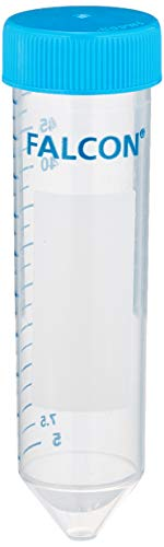 Corning Falcon 352070 High Clarity Polypropylen Centrifuge Tube, Conical Bottom, Sterile, 50 mL (500-er Pack)