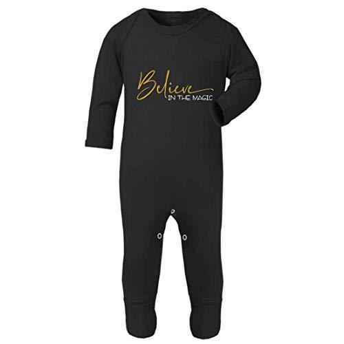 Believe in The Magic of Christmas - Mono para bebé (0 – 3 meses), color negro