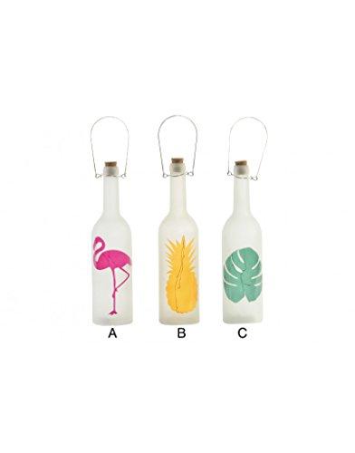huis en meer – decoratieve tropische fles met leds. 3 modellen – B.