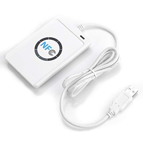 Vipxyc Lector/Grabador NFC RFID, Compatible con CCID, Compatible con PC/SC, Antena integrada,...