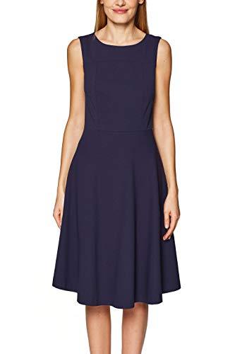 ESPRIT Damen 029EE1E012 Kleid, Blau (Navy 400), (Herstellergröße: 36)