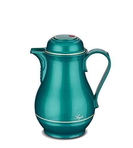 ROTPUNKT Isolierkanne 530 0,5 Liter (Shiny hummingbir |Doppelwandige Vakuumisolierung | Zweifunktions-Drehverschluss | BPA Frei- gesundes Trinken | Made in Germany | Warm + Kalthaltung | Glaseinsatz