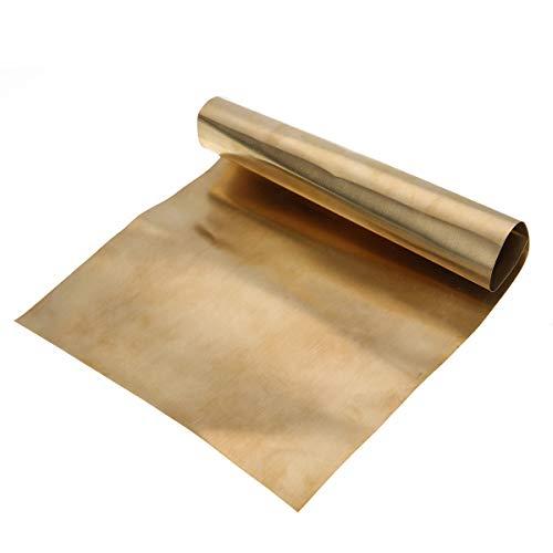 Metallplatte, Messing, dünn, 0,2 mm dick, 0,2 mm x 200 mm x 300 mm, 1 Stück