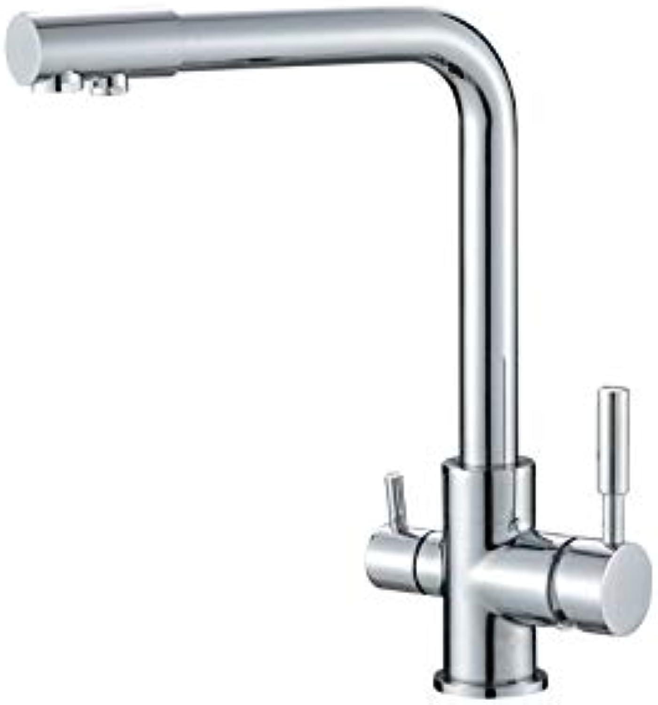 3 Wege Küchenarmatur Wasserhahn Spültisch Armatur Messing Neu