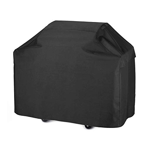 Abdeckung für Grillstation, strapazierfähige Abdeckung aus wasserdichtem Polyester, Überzug für BBQ-Station, 124,5cm (schwarz) von EVNEED