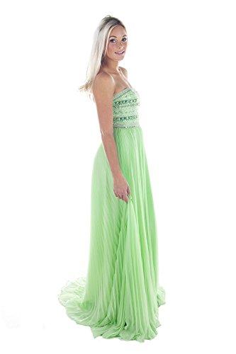 Sherri Hill 32182 Green Strapless Beaded Gown UK 8 (US 4)