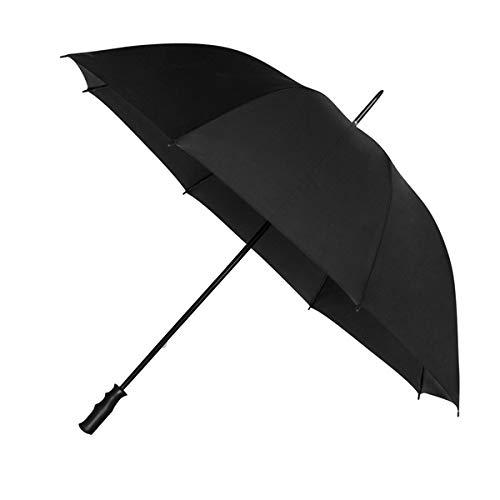 Impliva Paraguas de Golf Resistente al Viento, 125 cm, Negro