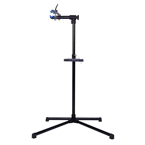 dibea BR00445 - Soporte de Montaje para Bicicletas con Soporte para Herramientas (Altura Regulable 100-150 cm, soporta hasta 30 kg, Giratorio 360°)