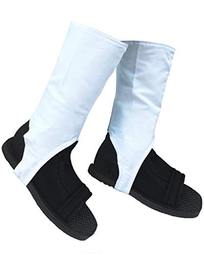 DAZCOS US Size Ninja Cosplay Shoes with White Outer Covers (8.5 M US Women/7.5 M US Men)
