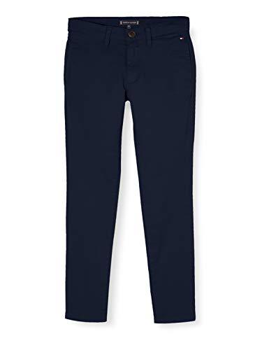 Tommy Hilfiger Jungen Essential Skinny Chino Th Flex Hose, Blau (Twilight Navy C87), One Size (Herstellergröße: 92)