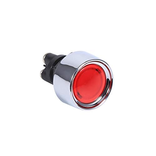 Interruptor de arranque del motor, fácil de usar Buena mano de obra Interruptor de encendido de arranque del motor Interruptor de arranque de encendido Alta luminancia para vehículos para(rojo)