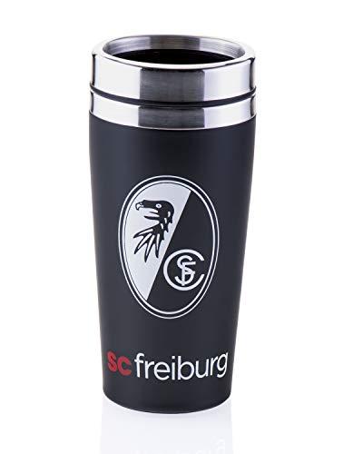 SC Freiburg Thermobecher Wappen, Kaffee Becher, Tasse, Coffee to go-Becher groß - Plus Lesezeichen Wir lieben Fußball