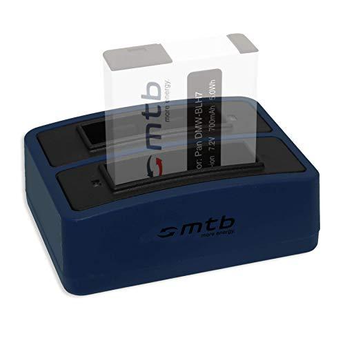 Double Chargeur (USB) pour Panasonic DMW-BLH7(E)   Lumix DC-GX800   DMC-GF7   DMC-GM1, GM5   DMC-LX15 - Cable Micro USB Inclus