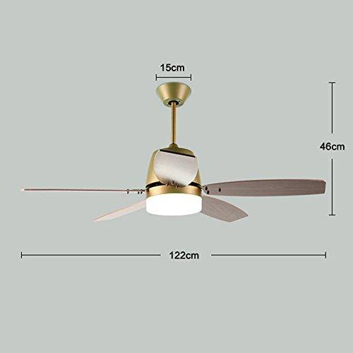 SX-CHENG $Lámpara Ventilador de Techo, Ventilador de Restaurante ...