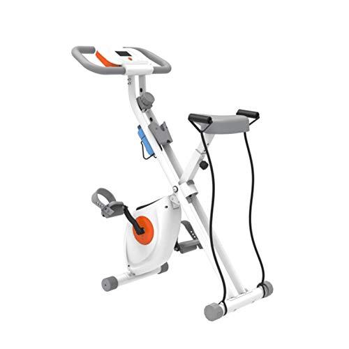 BZLLW Bicicletas estáticas de Spinning, Bicicleta de Ejercicio Plegable, Bicicleta de acondicionamiento físico con Pantalla LCD Plegable/Plegable Cardio Ejercicio Bicicleta con sensores de Pulso, ca