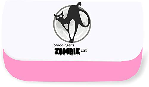 Shrodingers Zombie Cat Dead and Alive Clutch Style Pencil case - Pink