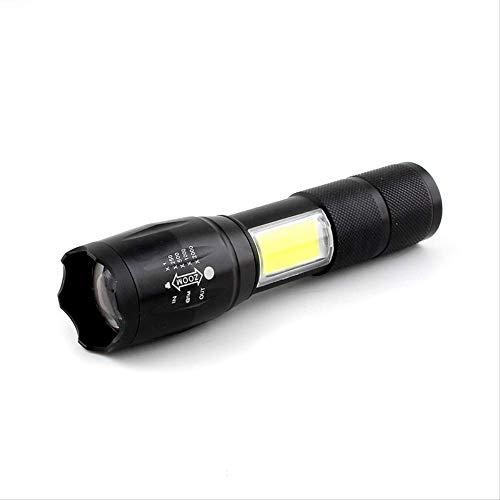 Lampe de poche LED T6 Cob Bulbs 18650 Flash Light Torch Zoom Aaa Batterie Éclairage Camping Randonnée Modèle S2COB