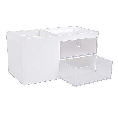 Heritan Organizador de maquillaje de gran capacidad cosmética caja de almacenamiento organizador de escritorio joyería esmalte de uñas maquillaje cajón contenedor