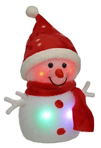 Best-Accessoires4All Lampadina a LED Figura Pupazzo di Neve luci di Natale Decorazione con murrine Cambiamento di Colore della Decorazione Natale