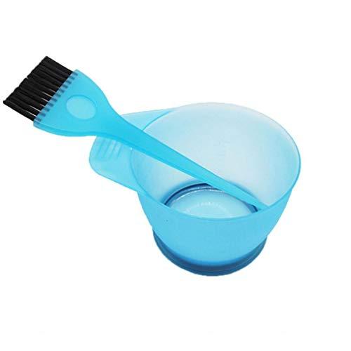 1 Set Hair Dye Couleur Brosse Et Ensemble De Bols Couleur Des Cheveux Brosse Jatte Kit Pour Cheveux Tint Mourir À Colorier Bleu Applicateur