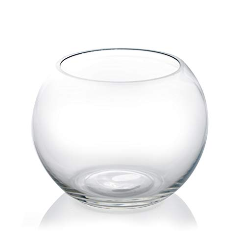 "CYS EXCEL Glass Bubble Bowl (H-4.5"" W-5.5"") 