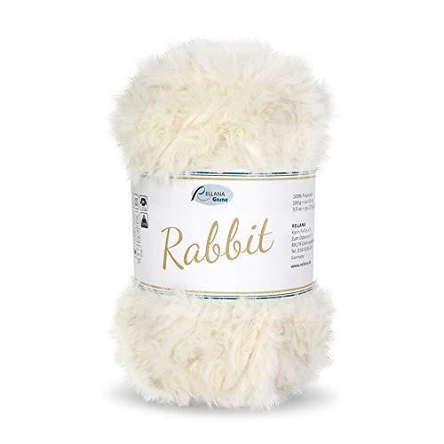 Rellana Rabbit - Ovillo de lana, aspecto de peluche, muy suave (100 g)