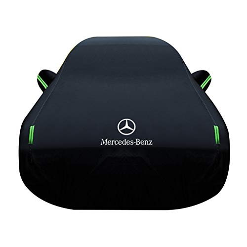 XLLH-YY Car Cover/Compatible With Mercedes-Benz B-class/Anti-fouling Waterproof Nylon Oxford Cloth Car Cover Ice Protection Foils Car Accessories Windproof Belt (Color : Black, Size : 2019)
