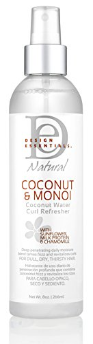 Design Essentials Coconut & Monoi Coconut Water Curl Refresher For Instant Curl Revitalization...