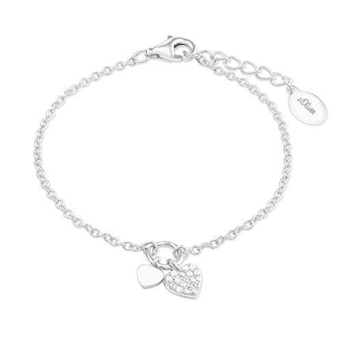 s.Oliver Armkette für Mädchen Herz, 925er Sterling Silber rhodiniert