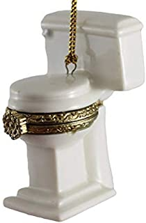 BW Brands Hinged Porcelain Surprise Christmas Ornaments (Toilet)