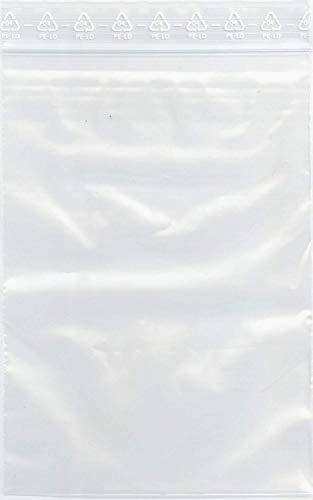 Polybeutel mit Druckverschluß 100 Stück-Druckverschlussbeutel 100x150 mm-50my (Zip Beutel/Polybeutel/Folienbeutel), glasklar, 100 x 150 mm