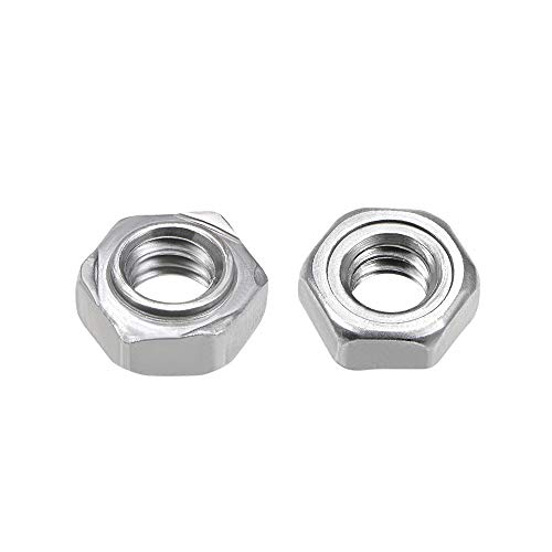 uxcell Hex Weld Nuts,1/4-20 Carbon Steel with 3 Projections Machine Screw Gray 20pcs