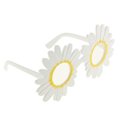 harayaa Daisy Anteojos Gafas Flor Disfraz Gafas Sol Divertidas sobre