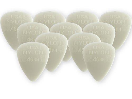 Dunlop 44P.46 Nylon Standard, White, .46mm, 12/Player's Pack